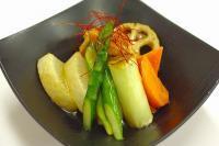 鶏肉と揚げ野菜の和風あんかけ