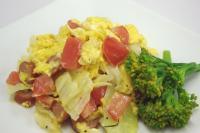 春色菜の花 トマトとソーセージの半熟卵