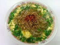 ニラと挽肉のピリ辛麺