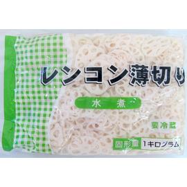 【冷蔵】 業務用 レンコンスライス 水煮 1kg